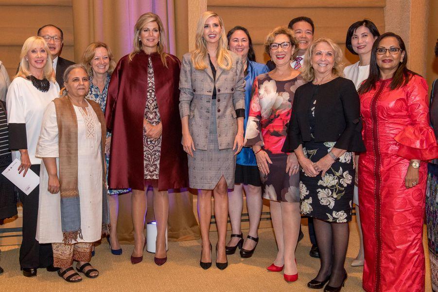 La reine Maxima des Pays-Bas à New York, le 25 septembre 2018