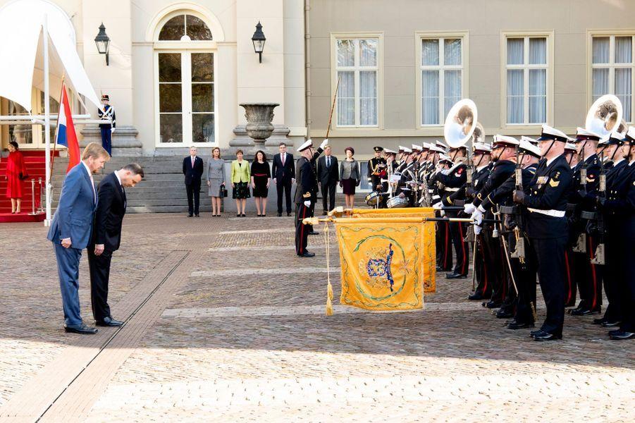 Le roi Willem-Alexander des Pays-Bas et le président polonais Andrzej Duda à La Haye, le 29 octobre 2019