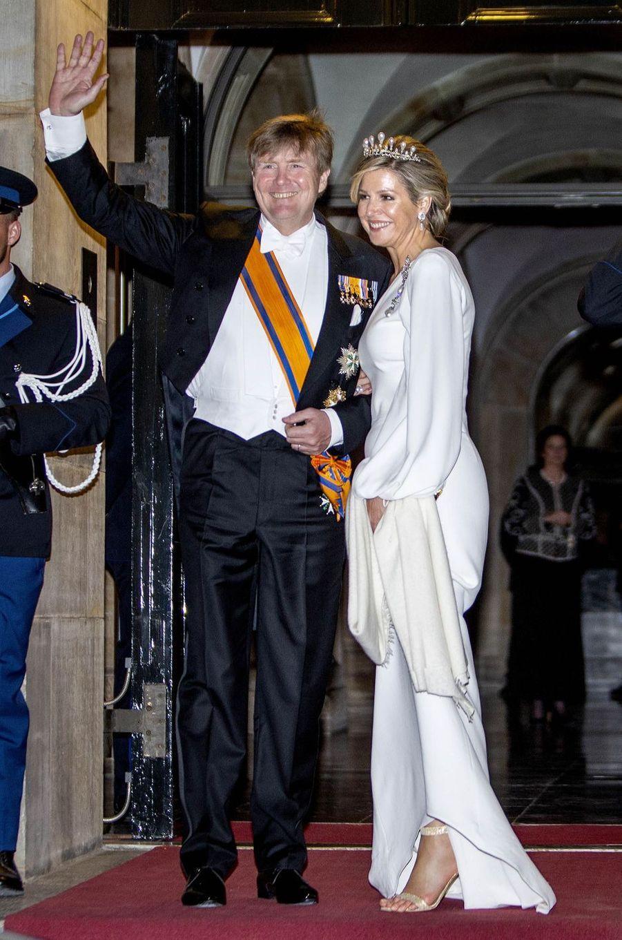La reine Maxima et le roi Willem-Alexander des Pays-Bas à Amsterdam, le 9 avril 2019