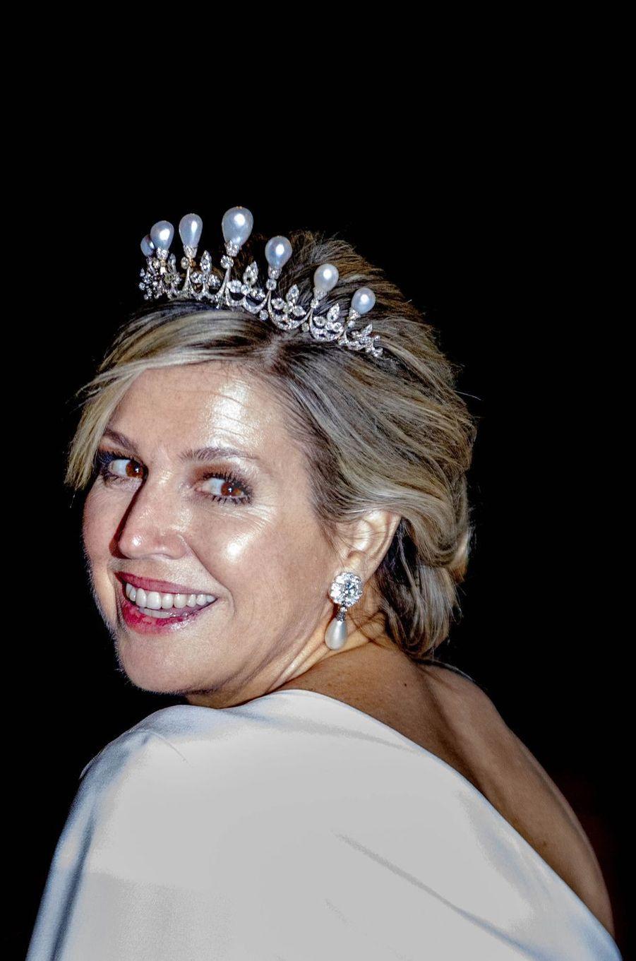 La reine Maxima des Pays-Bas à Amsterdam, le 9 avril 2019