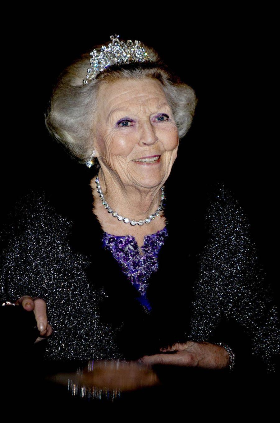 L'ex-reine Beatrix des Pays-Bas à Amsterdam, le 9 avril 2019
