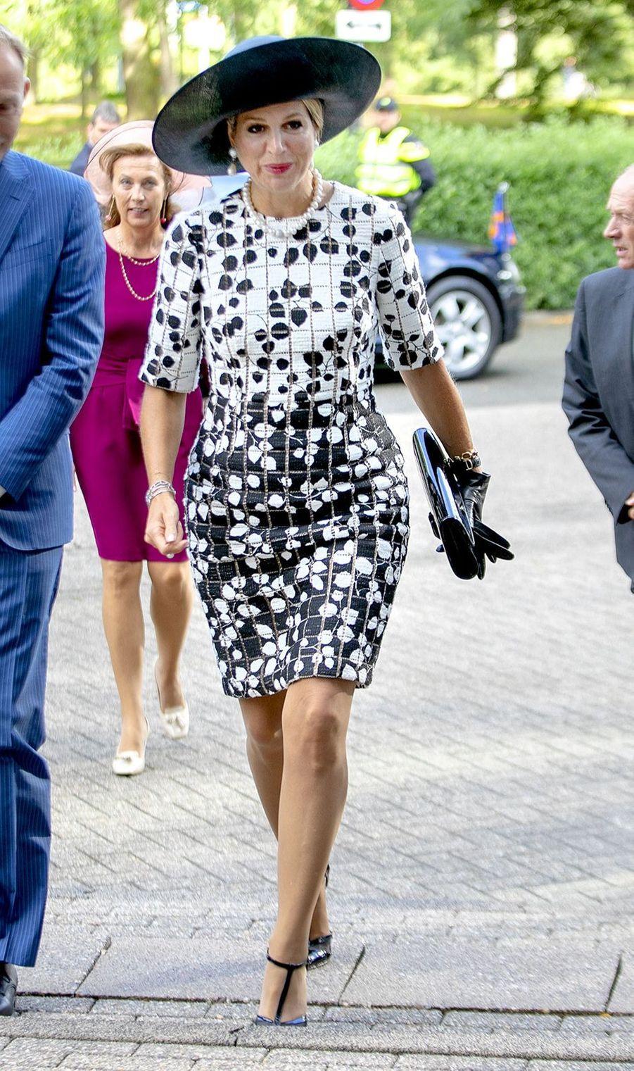 La reine Maxima des Pays-Bas en Carolina Herrera à Utrecht, le 5 septembre 2019