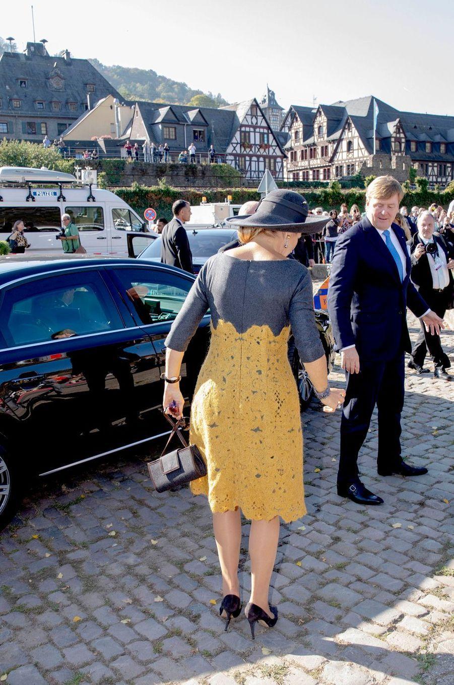 La reine Maxima et le roi Willem-Alexander des Pays-Bas à Oberwesel, le 10 octobre 2018
