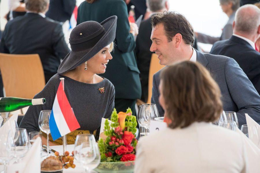 La reine Maxima des Pays-Bas à Mayence, le 10 octobre 2018