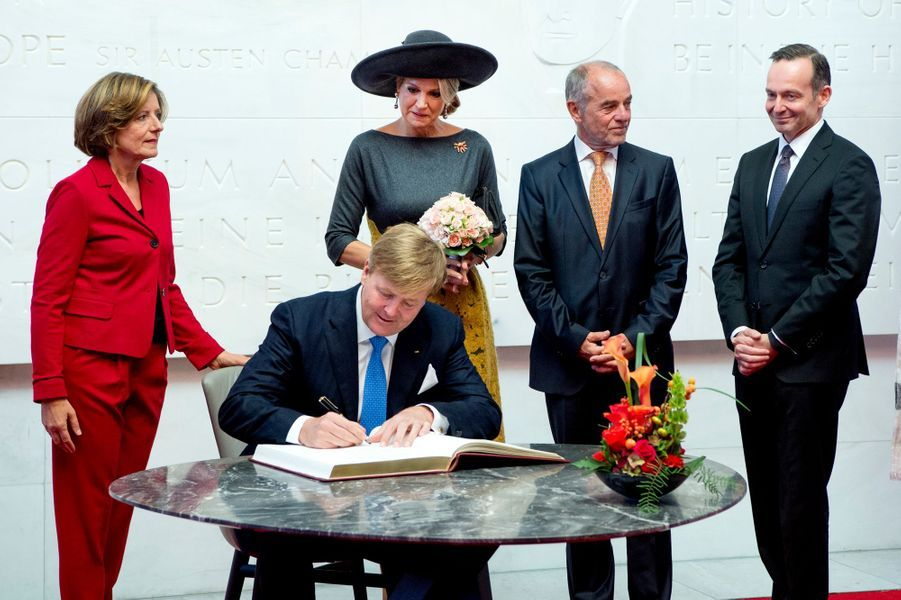 Le roi Willem-Alexander et la reine Maxima des Pays-Bas à Mayence, le 10 octobre 2018