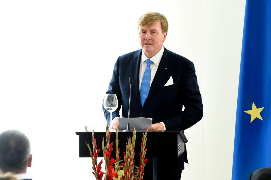 Le roi Willem-Alexander des Pays-Bas à Mayence, le 10 octobre 2018
