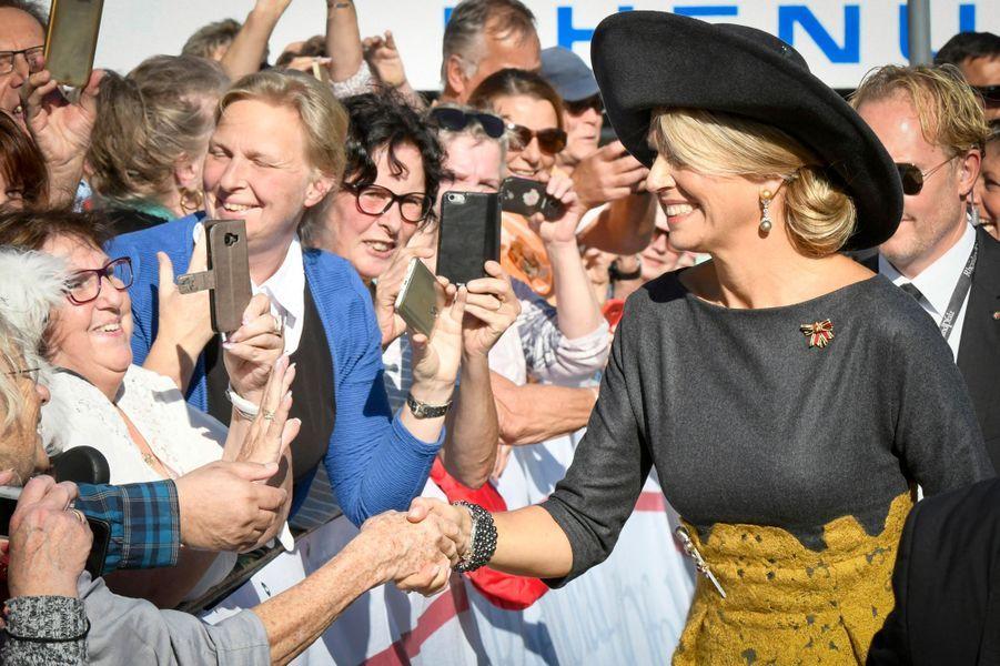 La reine Maxima des Pays-Bas à Oberwesel, le 10 octobre 2018