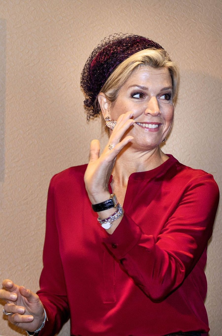 La reine Maxima des Pays-Bas à La Haye, le 17 octobre 2018 au matin