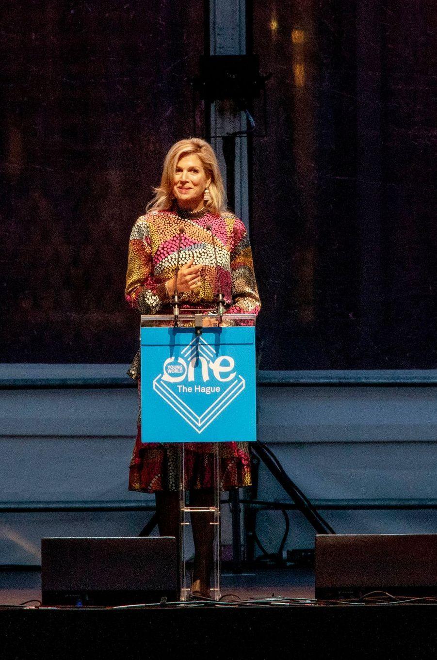 La reine Maxima des Pays-Bas à La Haye, le 17 octobre 2018