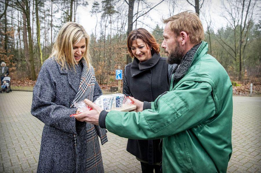 La reine Maxima des Pays-Bas en visite à Ugchelen, le 8 janvier 2020