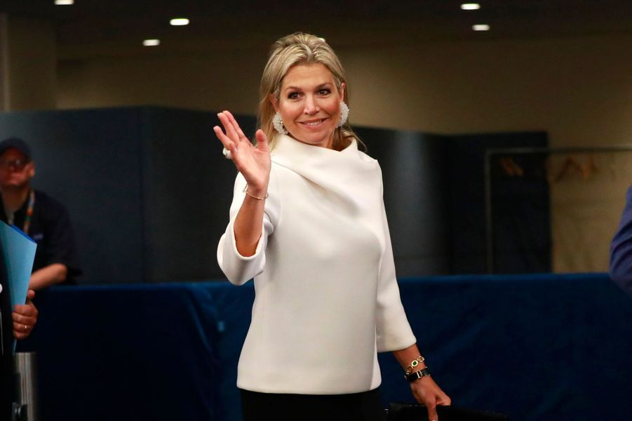 La reine Maxima des Pays-Bas, le 24 septembre 2019 à New York
