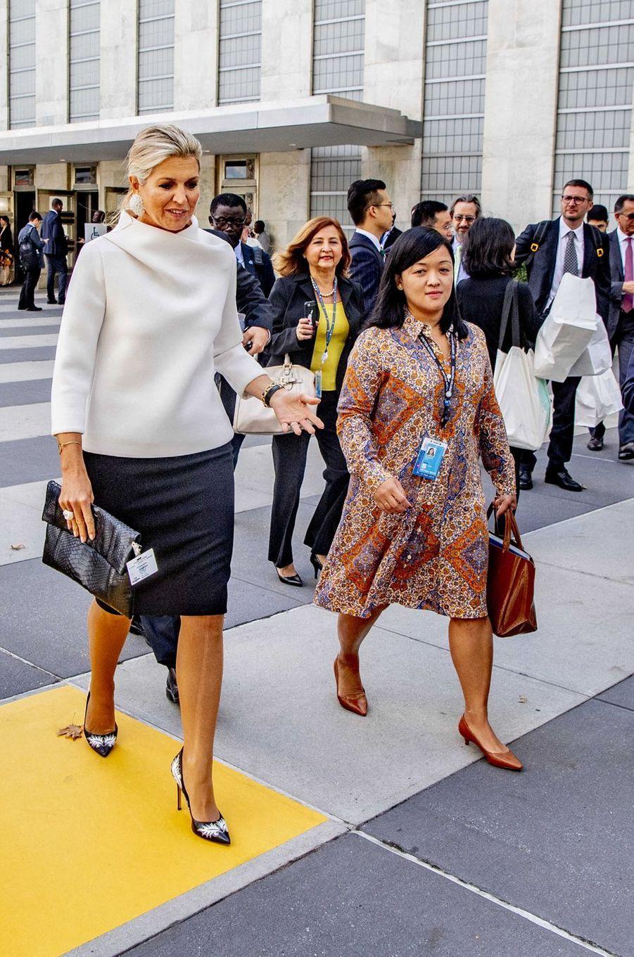 La reine Maxima des Pays-Bas à New York, le 24 septembre 2019