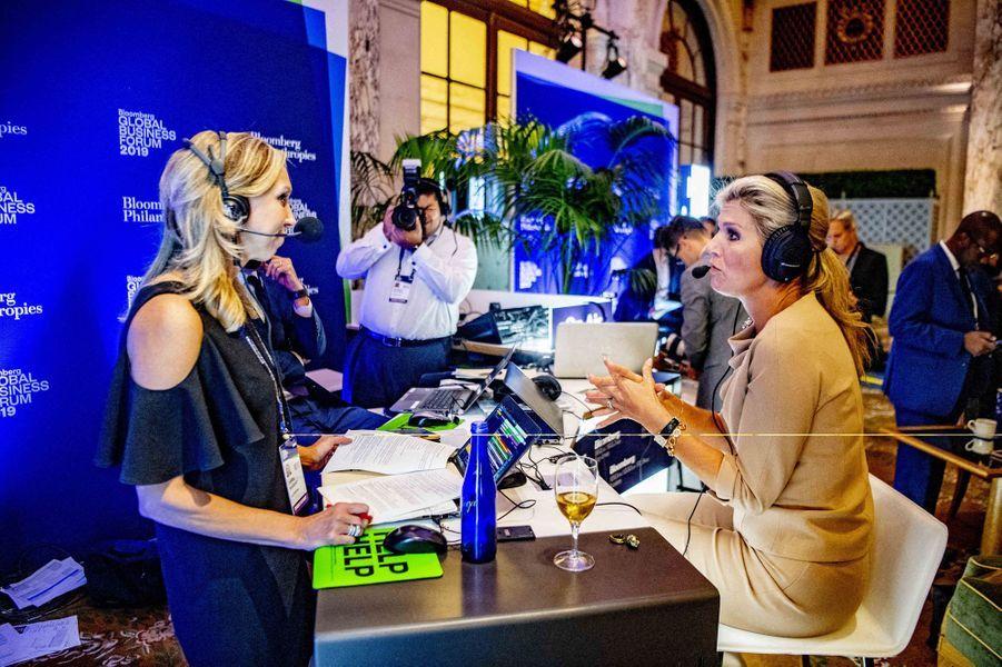 La reine Maxima des Pays-Bas à New York, le 25 septembre 2019