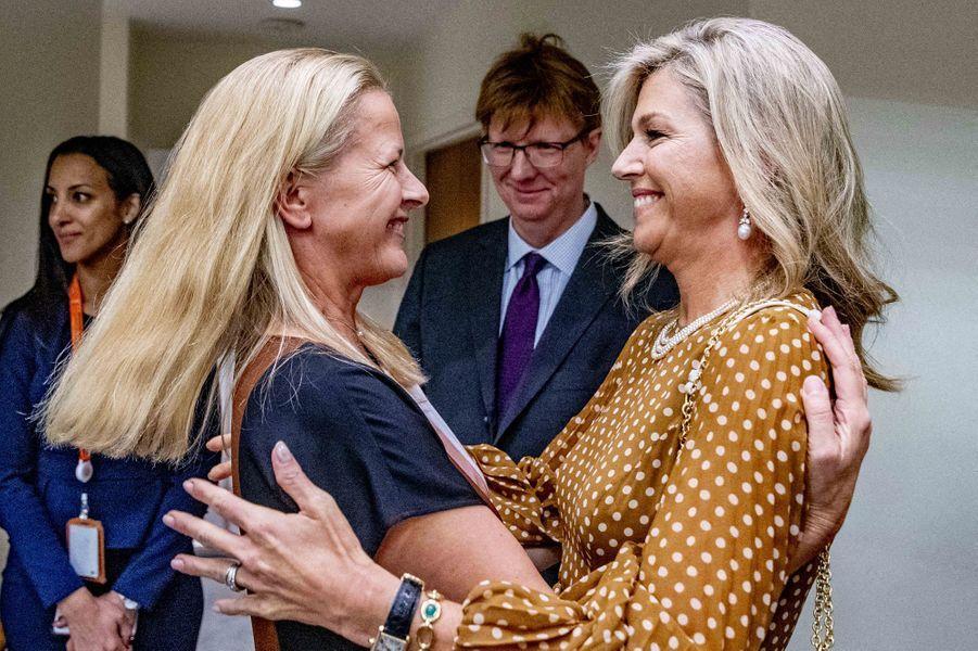 La reine Maxima des Pays-Bas avec sa belle-soeur la princesse Mabel à New York, le 25 septembre 2019