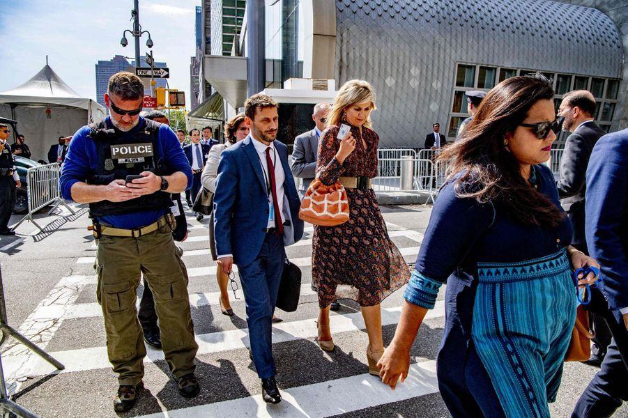 La reine Maxima des Pays-Bas à New York, le 26 septembre 2019
