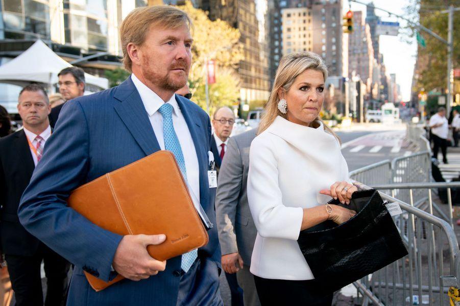 Le roi Willem-Alexander et la reine Maxima des Pays-Bas à New York, le 24 septembre 2019