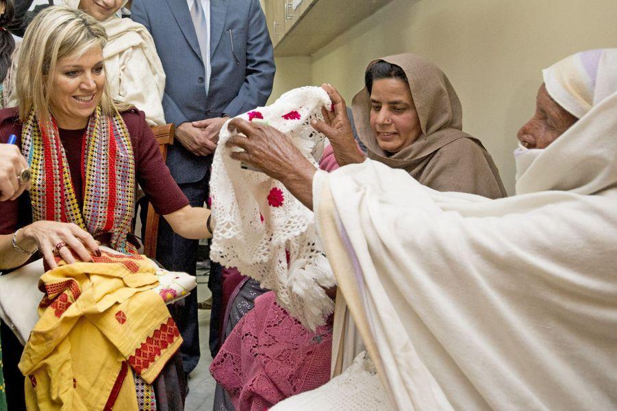 La reine Maxima des Pays-Bas à Islamabad, le 10 février 2016