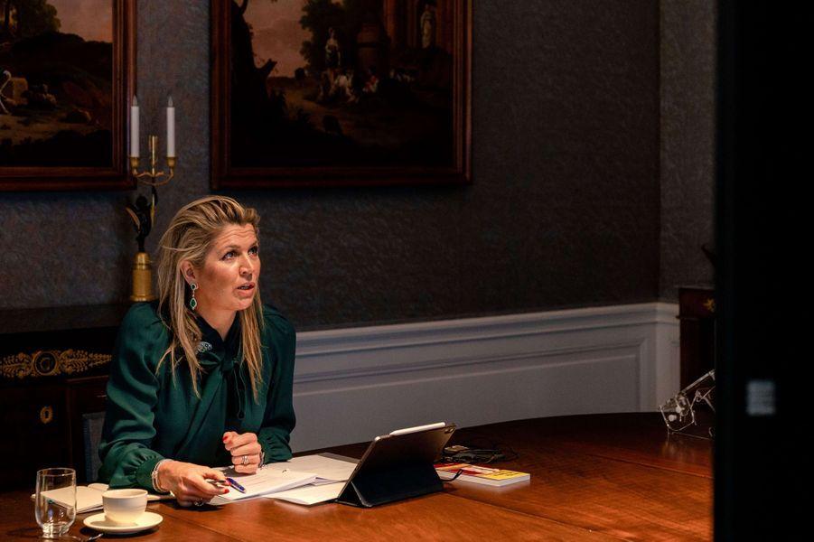 La reine Maxima des Pays-Bas à La Haye, le 30 novembre 2020