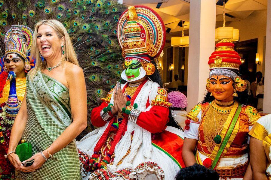 La reine Maxima des Pays-Bas à Kochi, le 17 octobre 2019
