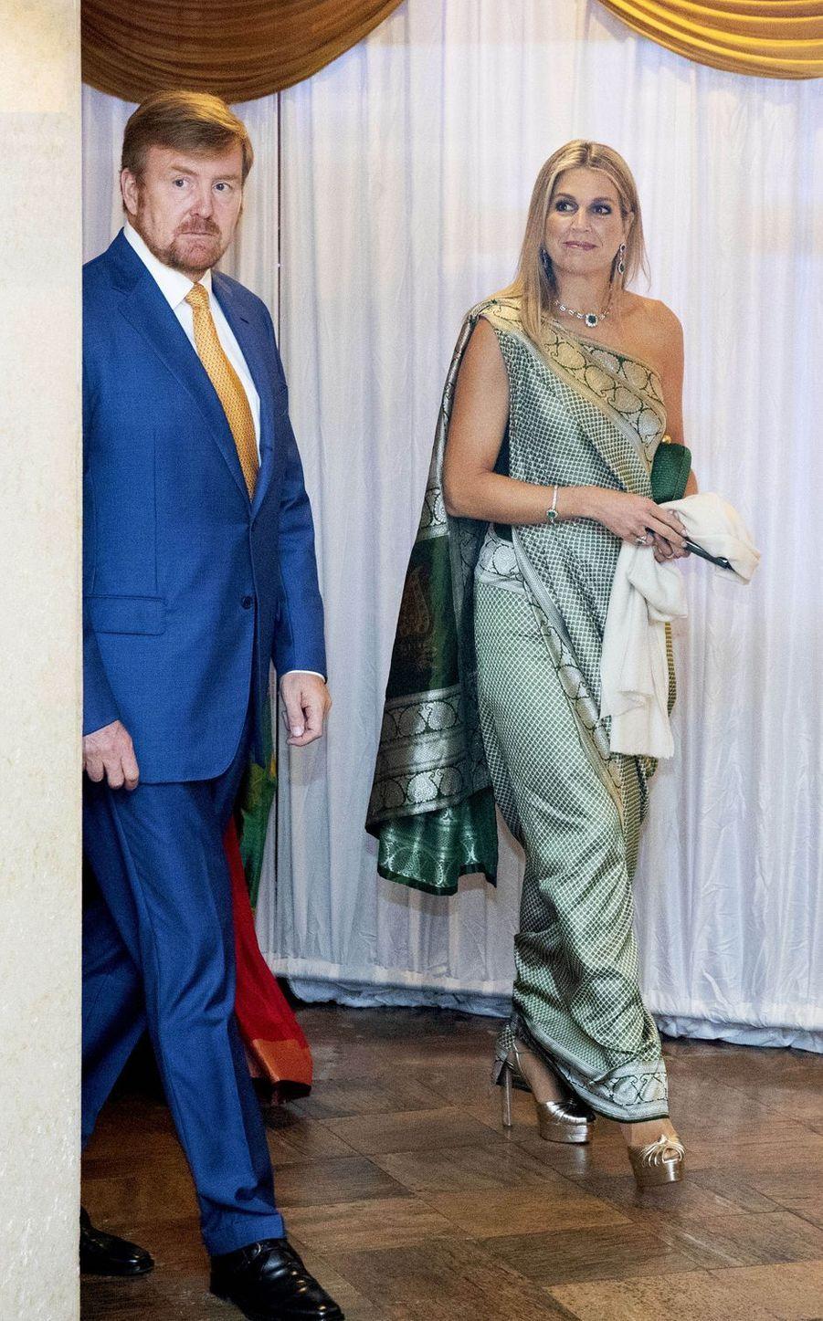 La reine Maxima et le roi Willem-Alexander des Pays-Bas à Kochi, le 17 octobre 2019