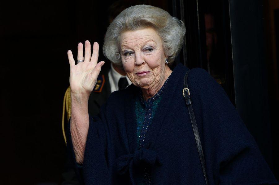 La princesse Beatrix des Pays-Bas à Amsterdam, le 12 janvier 2016