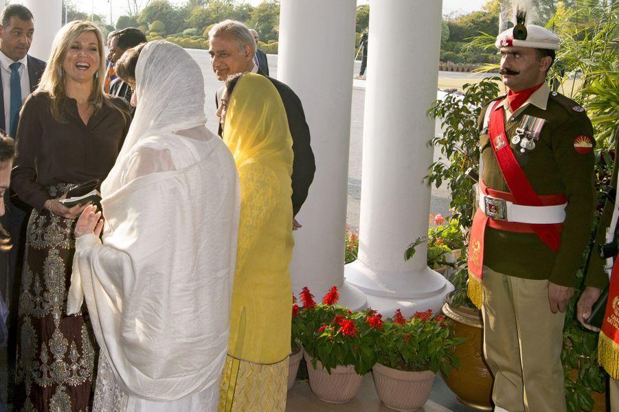 La reine Maxima des Pays-Bas à Islamabad, le 9 février 2016