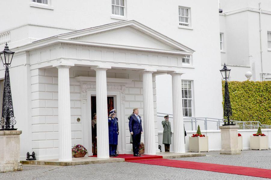 Le roi Willem-Alexander des Pays-Bas à Dublin en Irlande, le 12 juin 2019