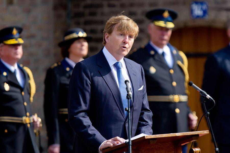Le roi Willem-Alexander des Pays-Bas à La Haye, le 8 avril 2015