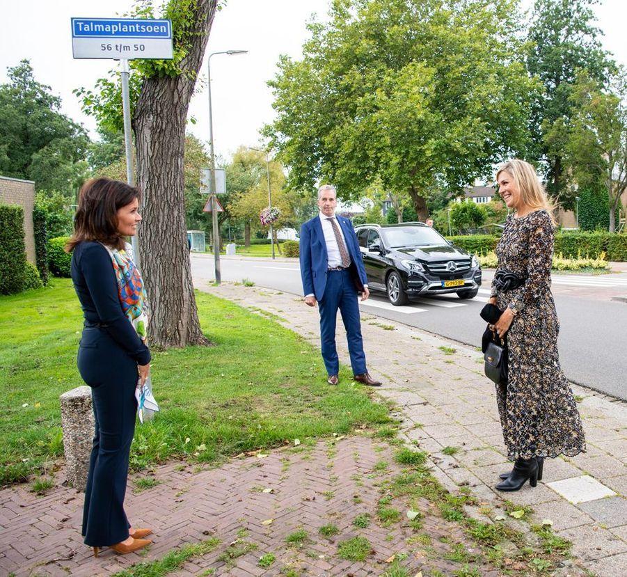 La reine Maxima des Pays-Bas à Zwijndrecht, Hendrik-Ido-Ambacht et Ridderkerk, le 8 septembre 2020