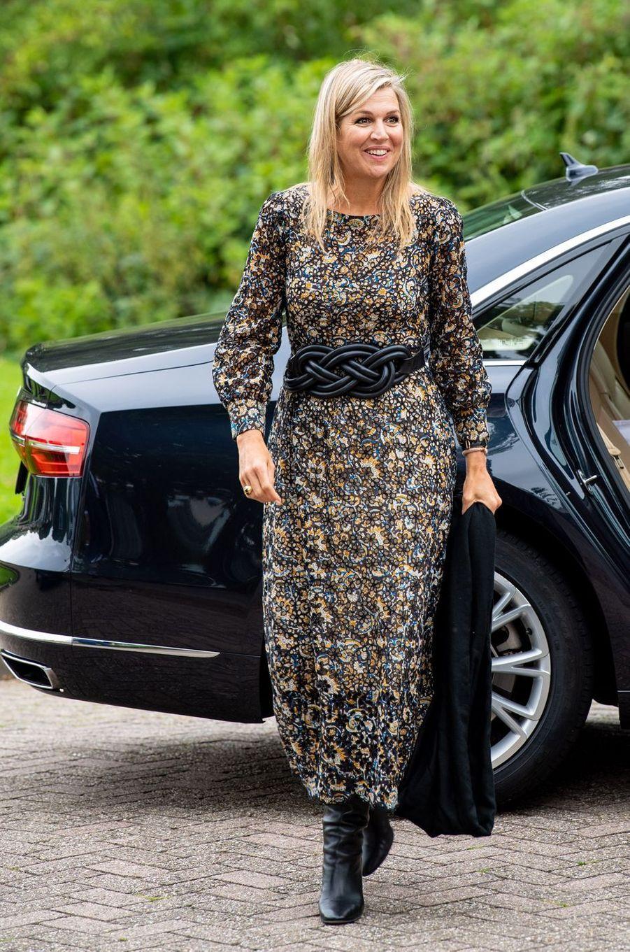 La reine Maxima des Pays-Bas en visite de travail à Zwijndrecht, Hendrik-Ido-Ambacht et Ridderkerk, le 8 septembre 2020