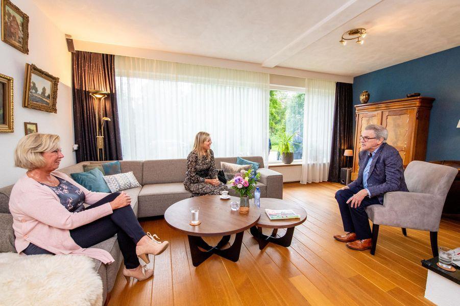 La reine Maxima des Pays-Bas à Zwijndrecht ou à Hendrik-Ido-Ambacht, le 8 septembre 2020