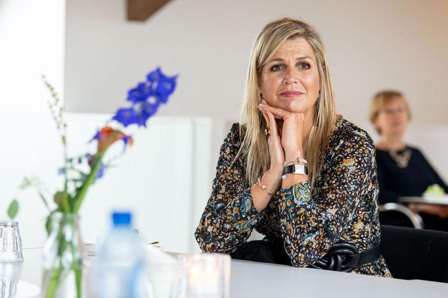 La reine Maxima des Pays-Bas à Ridderkerk, le 8 septembre 2020