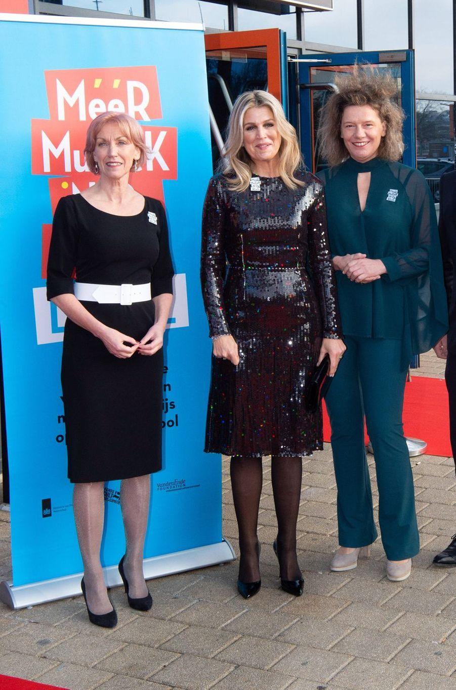 La reine Maxima des Pays-Bas à Zwolle, le 18 décembre 2019