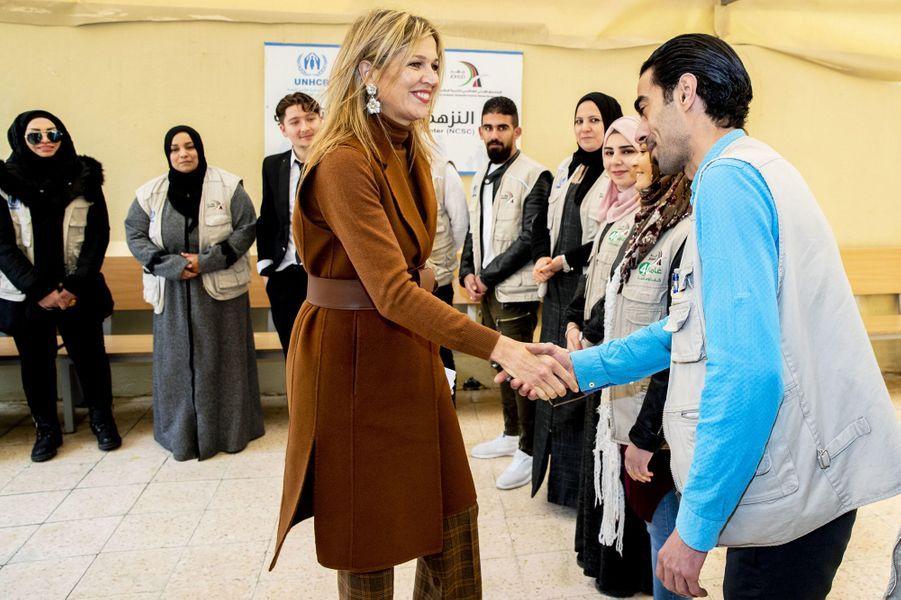 La reine Maxima des Pays-Bas à Amman en Jordanie, le 11 février 2019