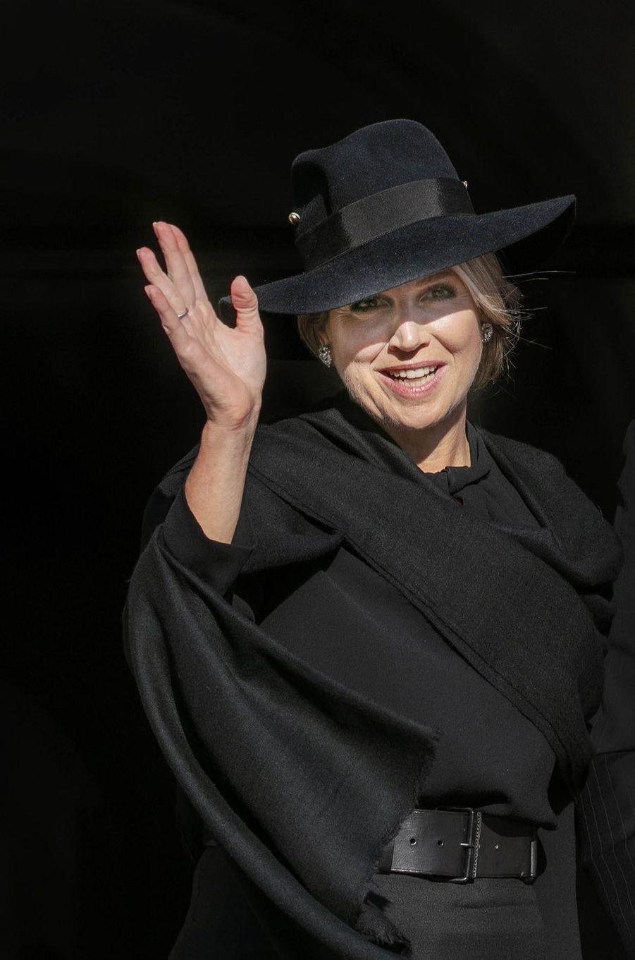 La reine Maxima des Pays-Bas à Amsterdam, le 4 mai 2020