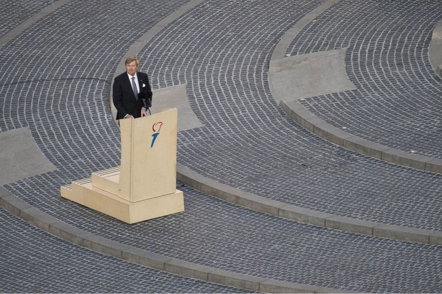 Le roi Willem-Alexander des Pays-Bas à Amsterdam, le 4 mai 2020