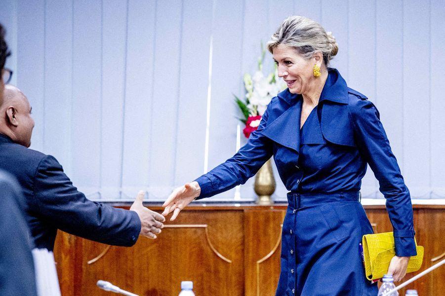 La reine Maxima des Pays-Bas à Dhaka au Bangladesh, le 11 juillet 2019