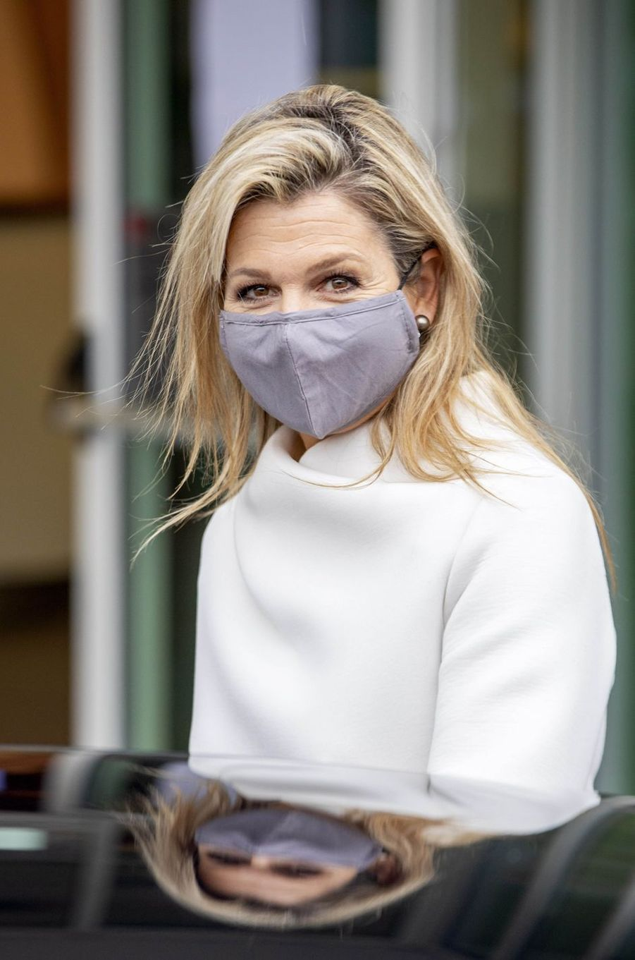 La reine Maxima des Pays-Bas masquée à Gouda, le 2 décembre 2020