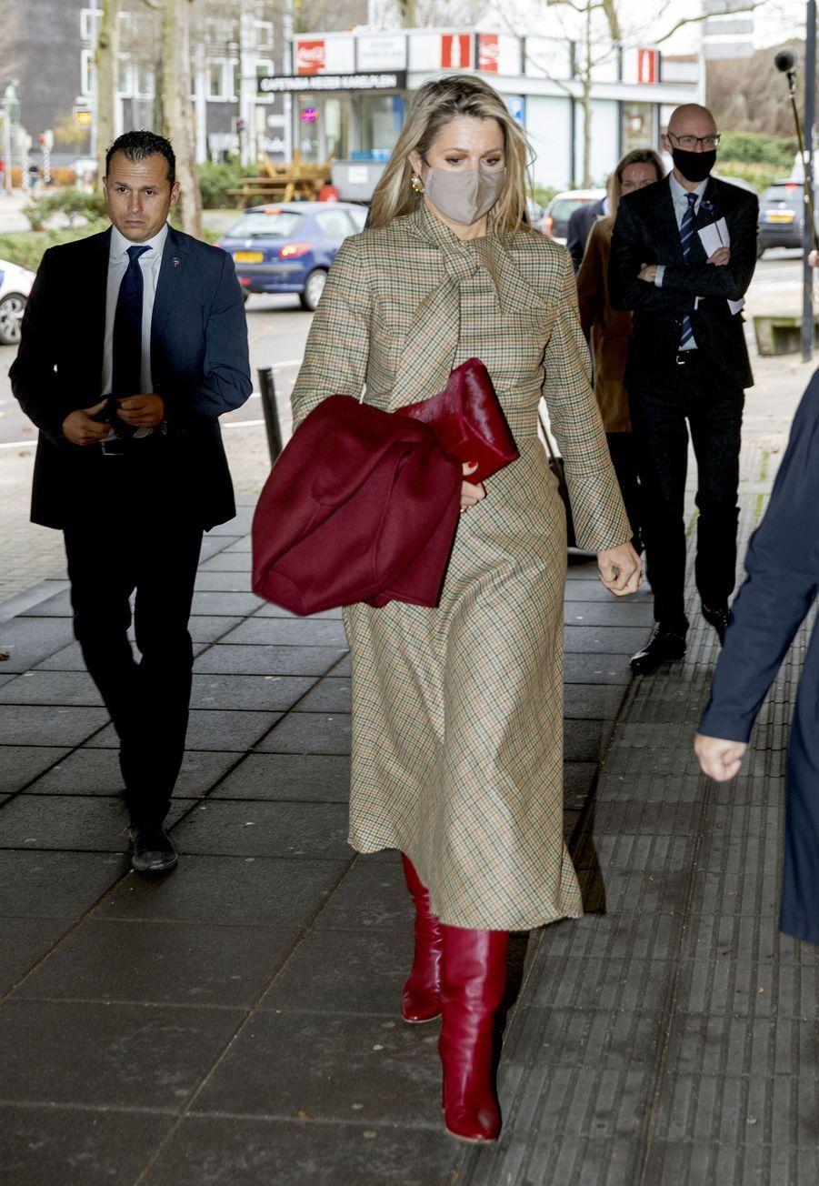 La reine Maxima des Pays-Bas, le 1er décembre 2020 à Nimègue