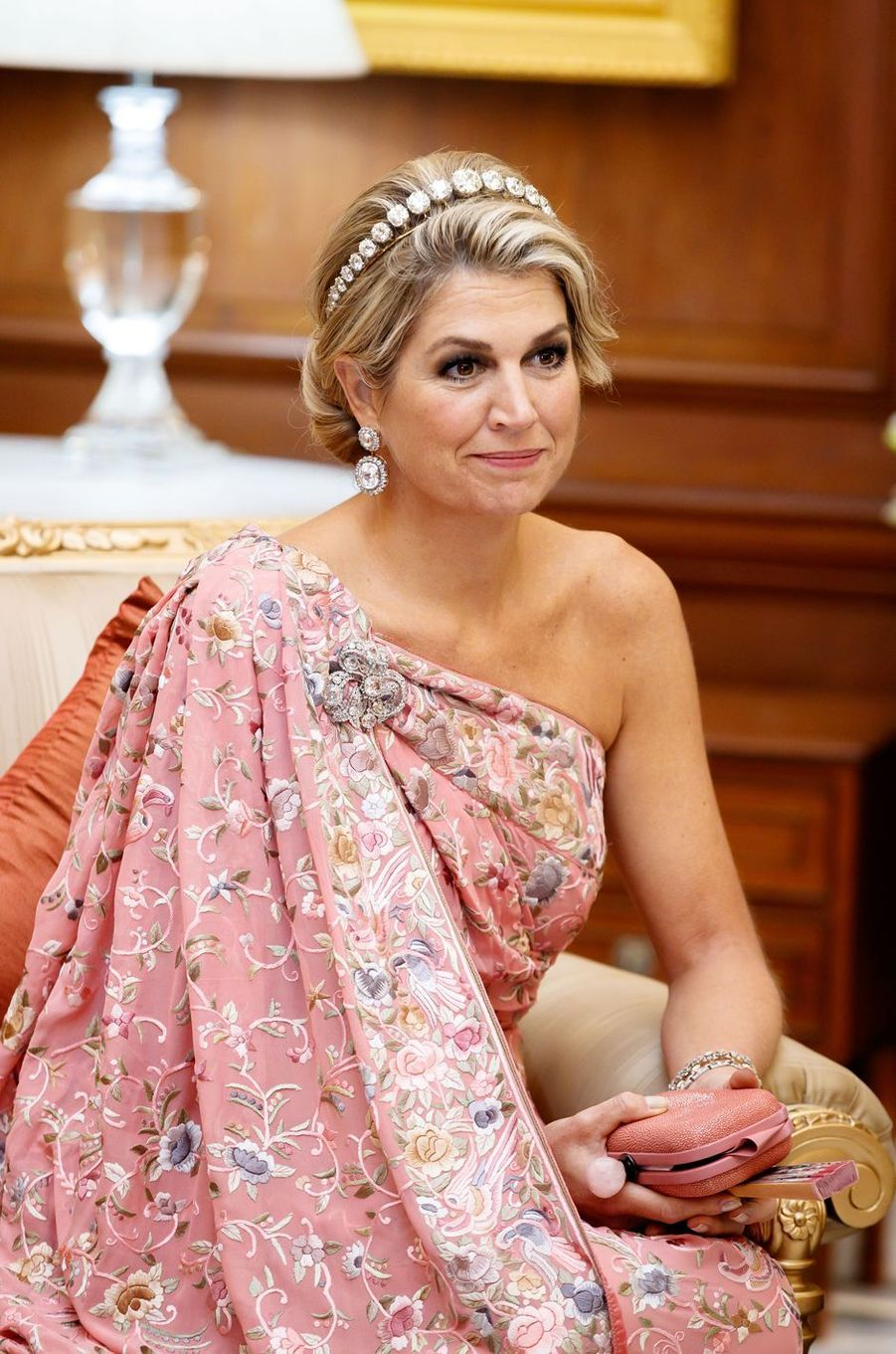 La reine Maxima des Pays-Bas à New Delhi, le 14 octobre 2019