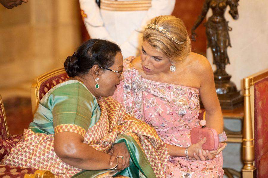 La reine Maxima des Pays-Bas et la First Lady indienne à New Delhi, le 14 octobre 2019