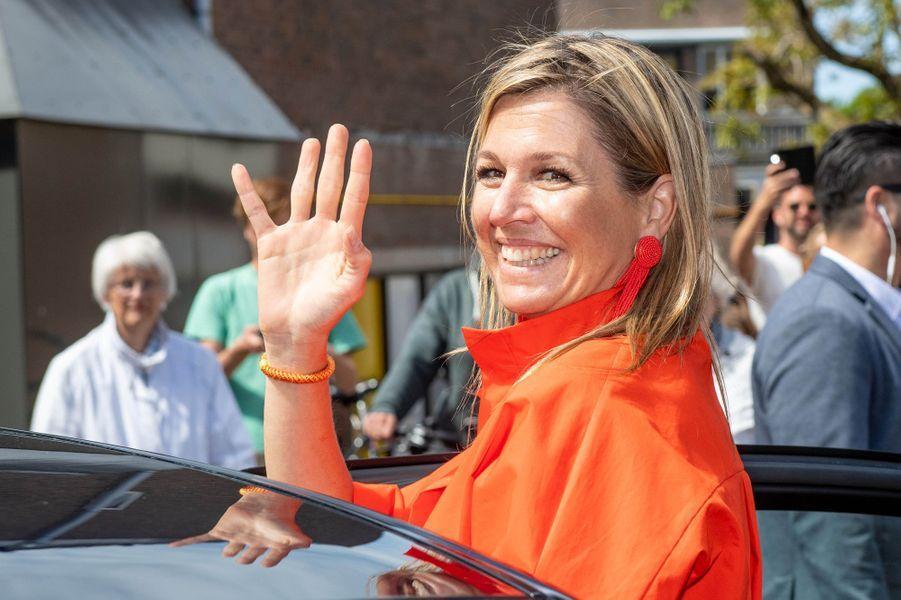 La reine Maxima des Pays-Bas sur l'île de Texel, le 28 mai 2020