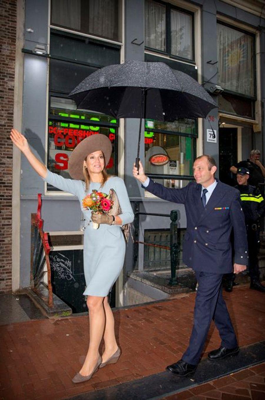 La reine Maxima des Pays-Bas à Amsterdam, le 22 septembre 2015