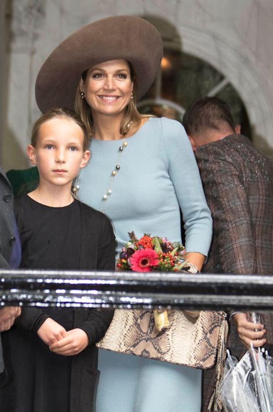 La reine Maxima des Pays-Bas au Museum Ons' Lieve Heer op Solder à Amsterdam, le 22 septembre 2015