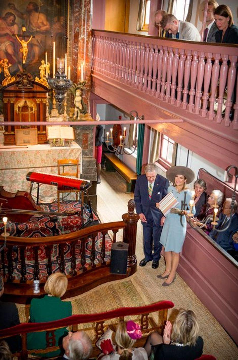 La reine Maxima des Pays dans l'ancienne église clandestine d'Amsterdam, le 22 septembre 2015