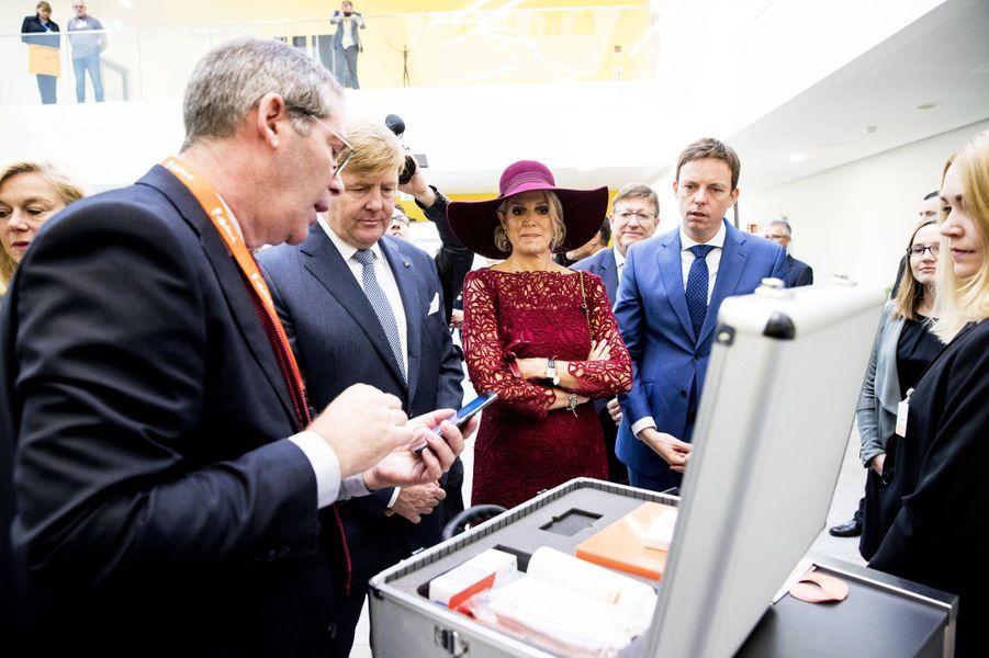La reine Maxima et le roi Willem-Alexander des Pays-Bas à Hombourg, le 12 octobre 2018
