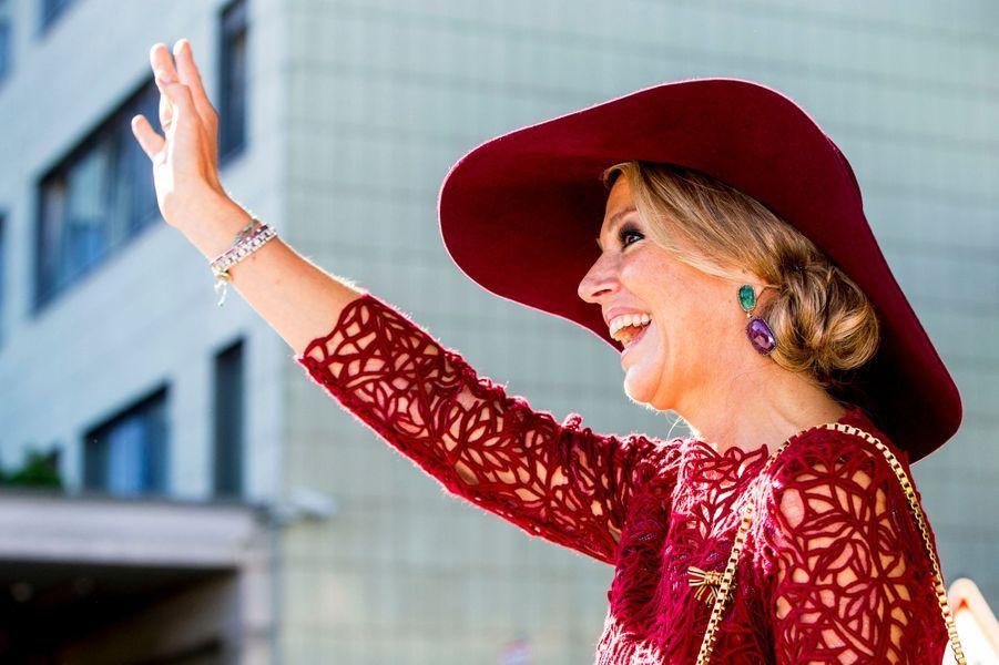 La reine Maxima des Pays-Bas à Hombourg, le 12 octobre 2018