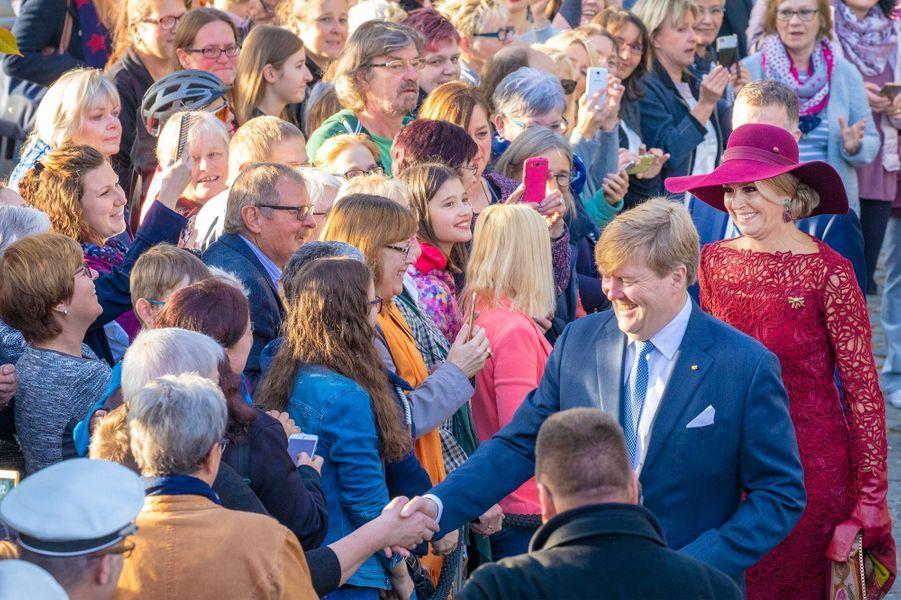 La reine Maxima et le roi Willem-Alexander des Pays-Bas à Völklinger, le 12 octobre 2018