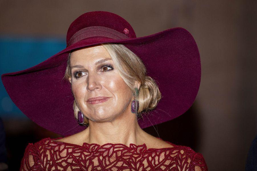 La reine Maxima des Pays-Bas dans la Sarre en Allemagne, le 12 octobre 2018