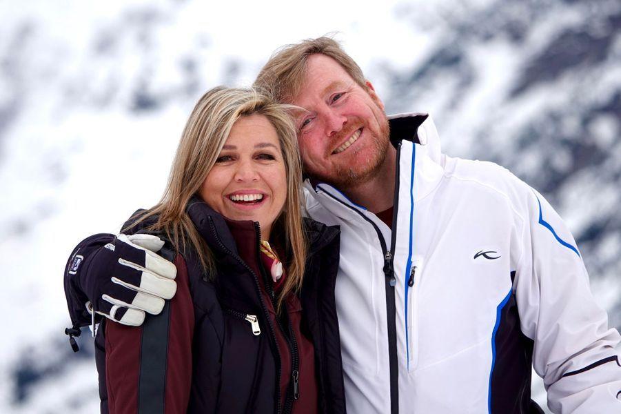 La reine Maxima et le roi Willem-Alexander des Pays-Bas, le 25 février 2020 à Lech